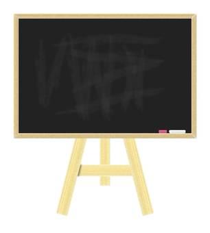 Blackboard and easel