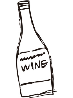 Wine bottle 2 (line drawing)