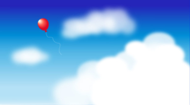하늘과 풍선 (와이드)