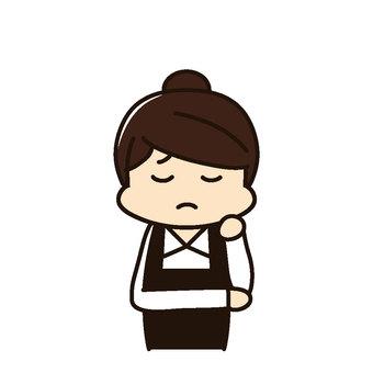 Restaurant Female staff troubled