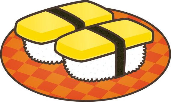Conveyor belt sushi: egg