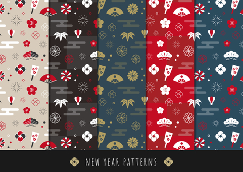 Background pattern of the New Year Part 1