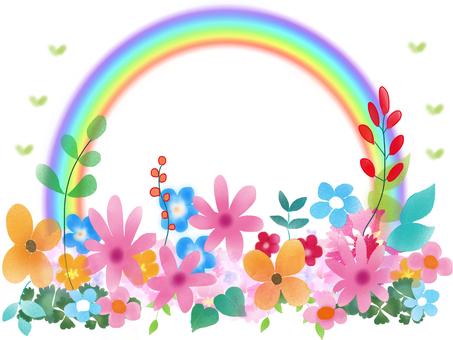 Rainbow full of flowers