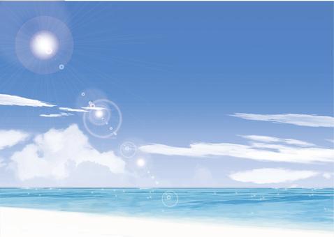 Summer sea and blue sky