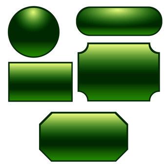 Button frame set green