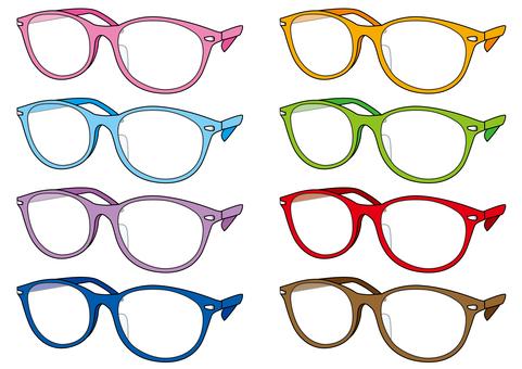 Eyeglasses each color, normal