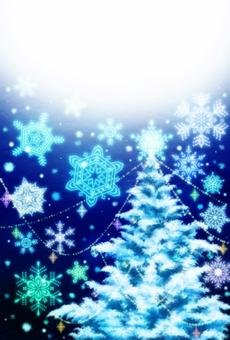 Christmas tree message card