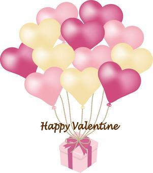 Heart balloon Valentine gift box