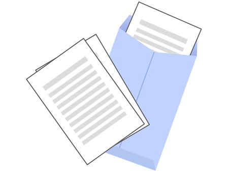 60822. 서류 봉투 블루 3