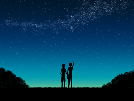 Dusk _ Starry sky _ people