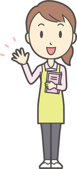 Home helper woman-090-whole body