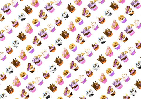 Halloween Cupcake Stripe