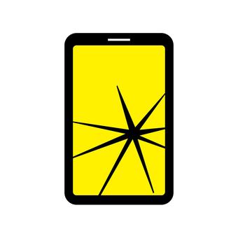 Broken smart screen crack