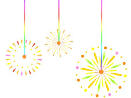 Sparkler firework (no background)