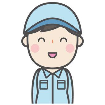 Male operator, job attendant
