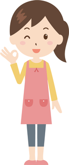 Woman | housewife | apron | OK