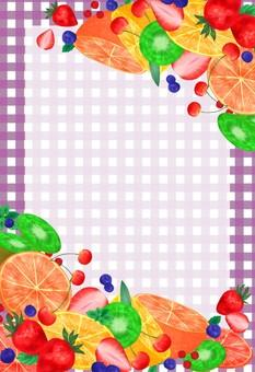 과일 프레임 퍼플