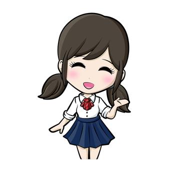 Girl / Girls student / Uniform ①