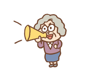 Granny cheering