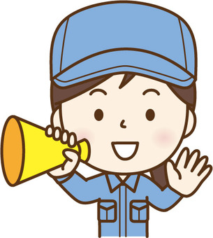Working woman with megaphone