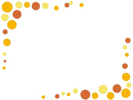 Polka dot frame Orange