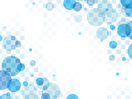 "Bubble checker frame ""Blue"""