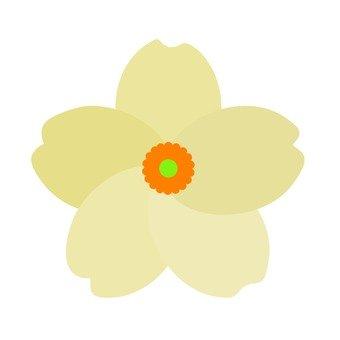 Flower motif white