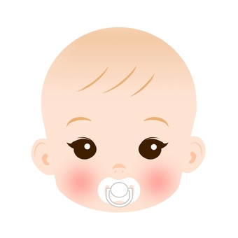 Baby's face pacifier