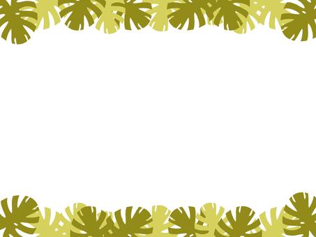 Monstera frame yellow