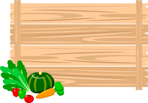 Green-yellow vegetable and board