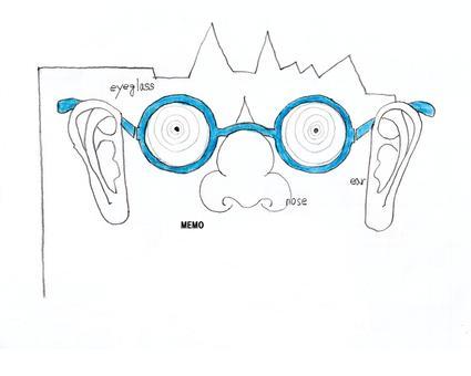 Memo paper glasses