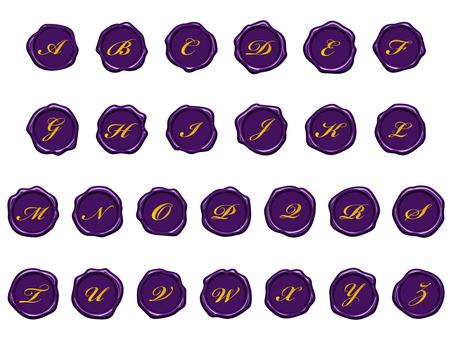 Wax seal set (purple)
