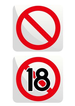 Prohibited mark _ 18 years old