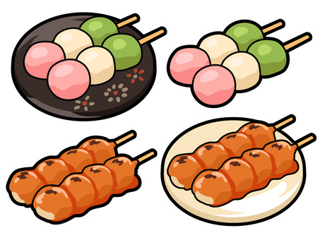 Cooking _ Japanese confectionery だ dumpling 線 line