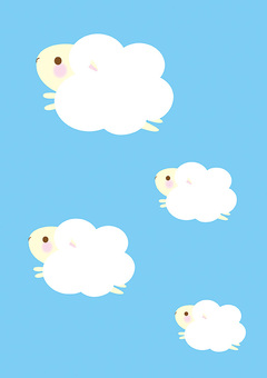 A flying sheep