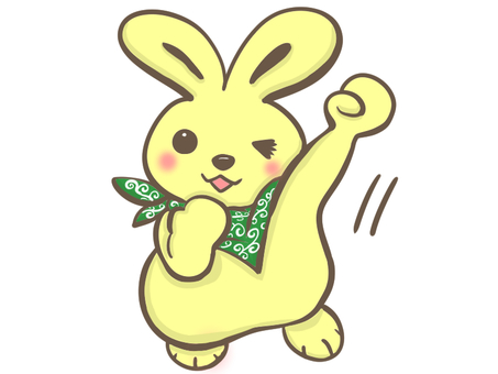 A rabbit who gives a fist full of energy