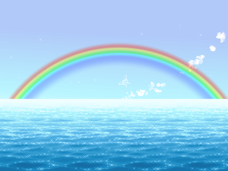 Sea and rainbow