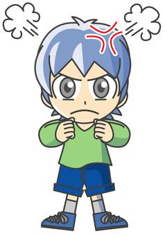 Boy illustration - Anger 4