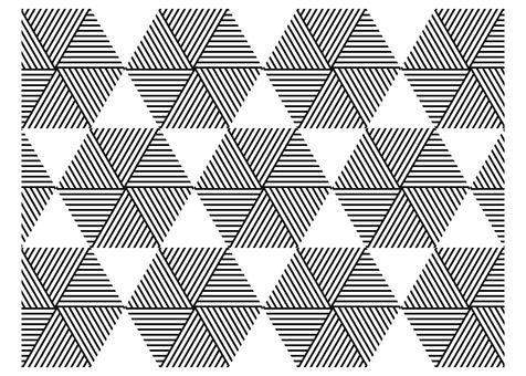 幾何圖案三角形六角單色