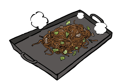 Teppanyaki fried noodles