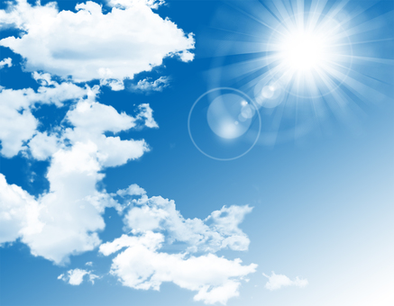 Free illustration Free material blue sky solar flare background