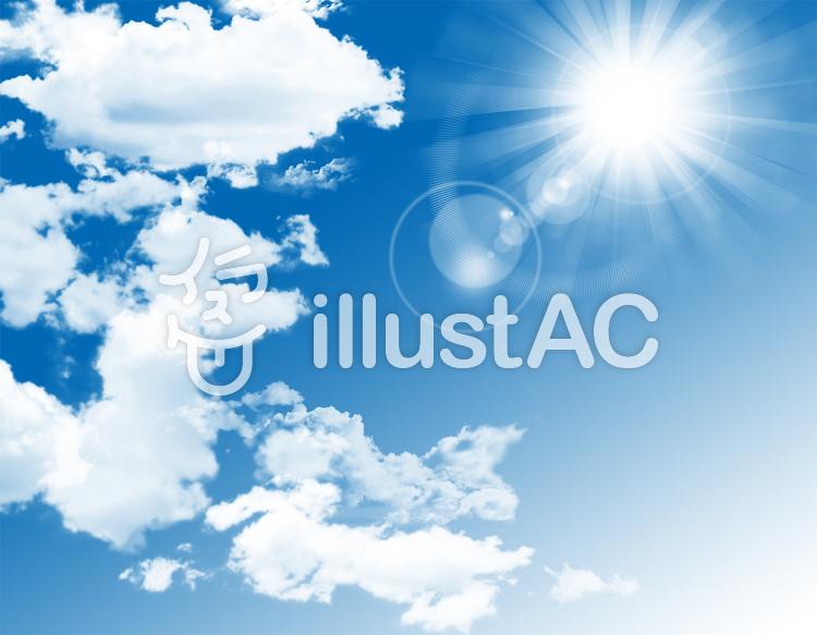青空太陽フレア