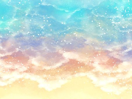 Sea watercolor background material 02 / a