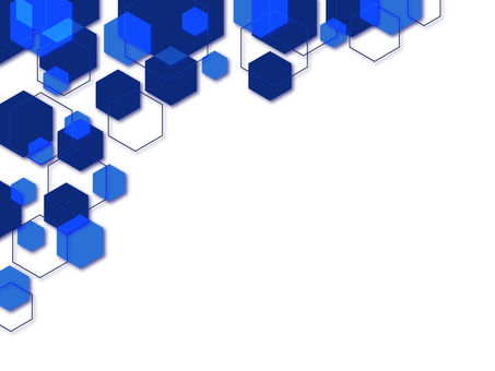 Hexagonal background drop shadow