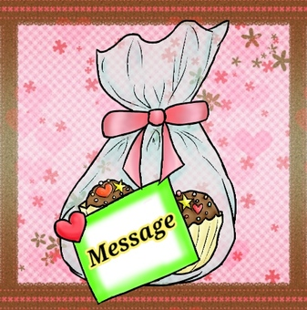 Cupcake gifts present background