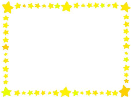 手描き風星フレーム