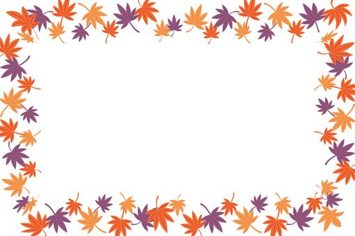 Autumn leaves frame 8
