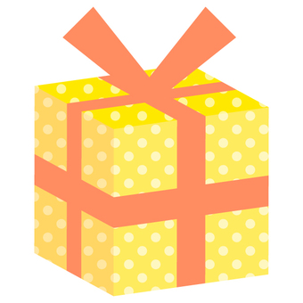 Present box (solid) yellow · orange · dot