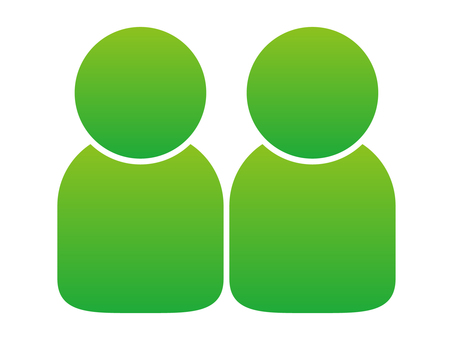 People icon (2 people) Green gradation