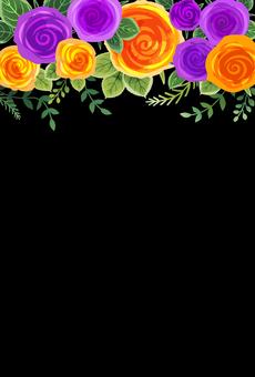 Rose background 009 (black)